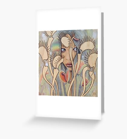 Dionaea (Venus Fly Trap) Greeting Card