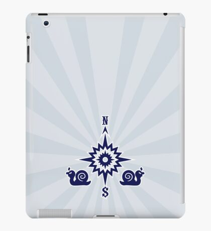 Wind Rose flanked by Snails VRS2 iPad Case/Skin
