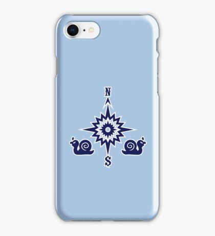 Wind Rose flanked by Snails VRS2 iPhone Case/Skin