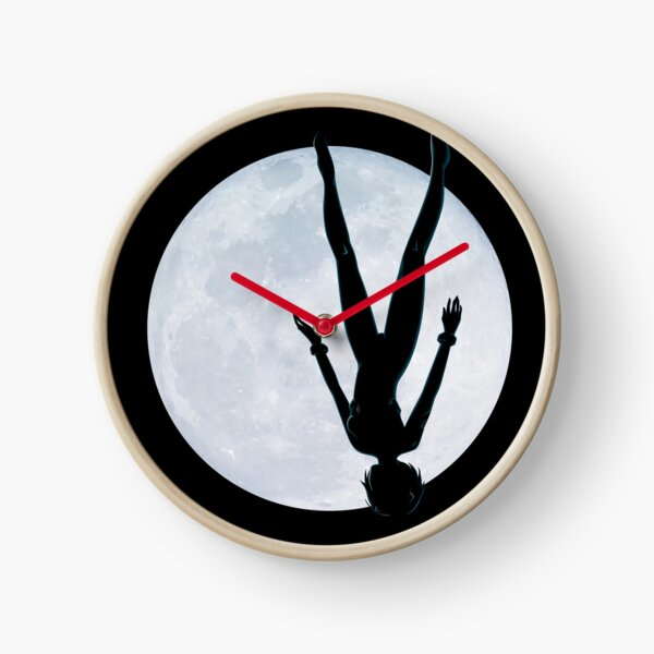 Upside Down Rei - Fly Me To The Moon Rei Silhouette Clock