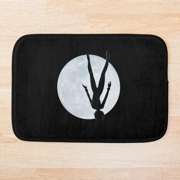 Upside Down Rei - Fly Me To The Moon Rei Silhouette Bath Mat