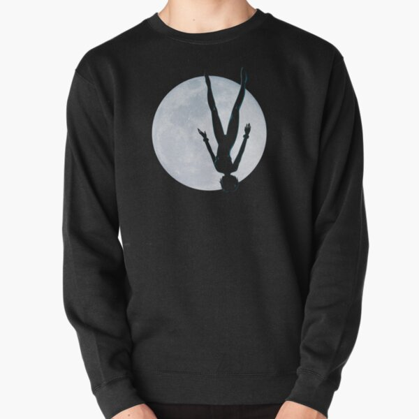 Upside Down Rei - Fly Me To The Moon Rei Silhouette Pullover Sweatshirt