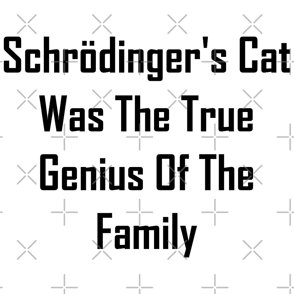 Schrodinger's Cat Was The True Genius Of The Family by geeknirvana
