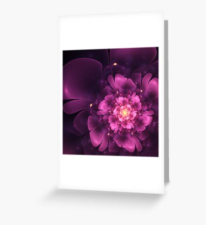 Tribute - Abstract Fractal Artwork Greeting Card