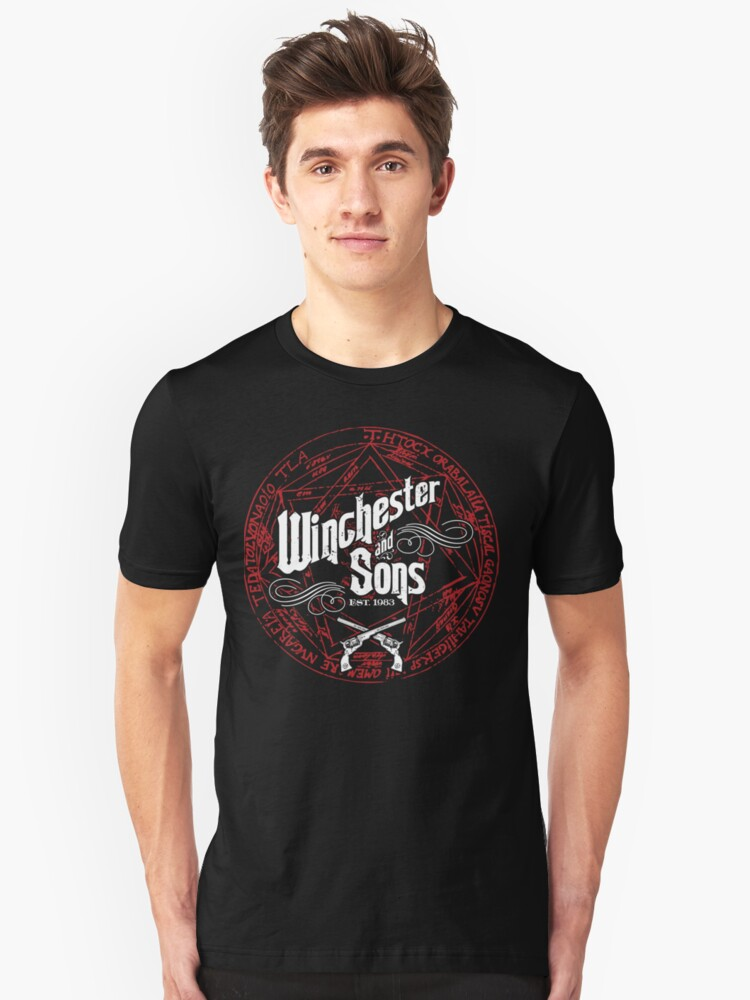 Winchester & Sons (Red Sigil) Unisex T-Shirt Front