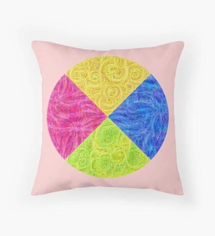 #DeepDream Color Circle Visual Areas 6x6K v1448932478 Throw Pillow