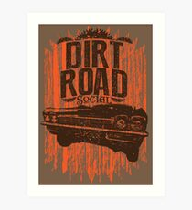 Dirt Road Rider Art Print