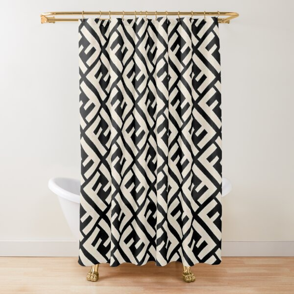 Uniqly Fendi Pattern Shower Curtain