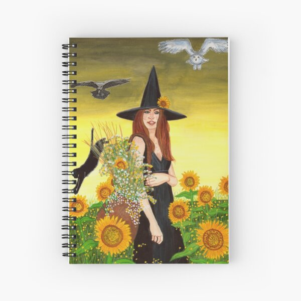 Gathering - Witch Art Spiral Notebook