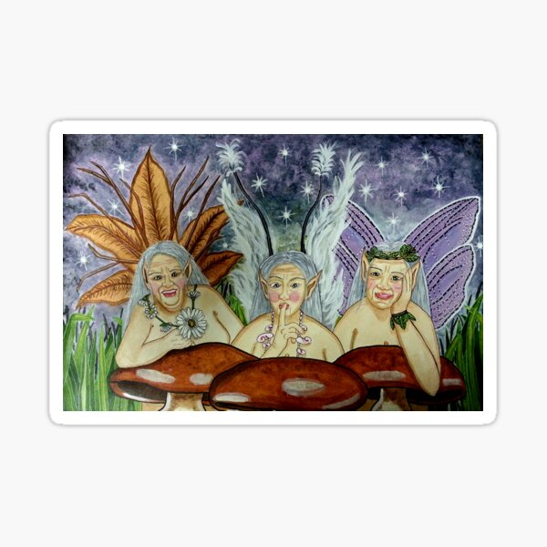 Wize Wimmin Fae - Fairy Art Sticker