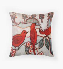 Sophies Birds Throw Pillow