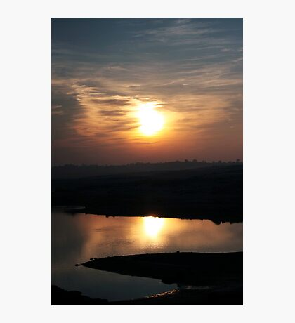 Sunset at Lake Folsom Photographic Print