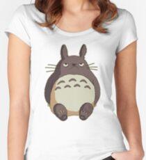 Grumpy Totoro Women's Fitted Scoop T-Shirt