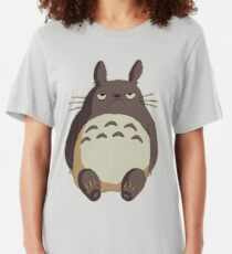 Grumpy Totoro Slim Fit T-Shirt