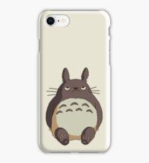 Grumpy Totoro iPhone Case/Skin