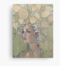 'Nelumbo' (Lotus Nymph) Metal Print