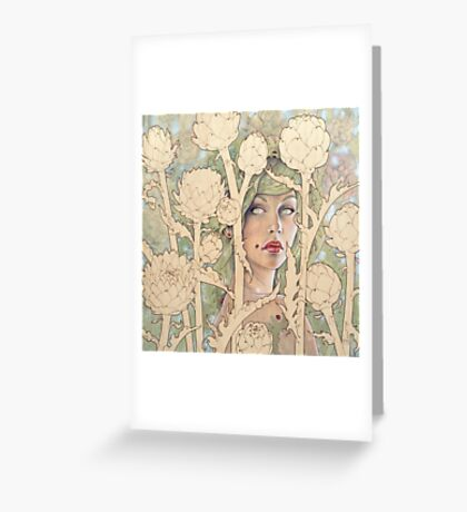 Cynara (Artichoke Nymph) Greeting Card