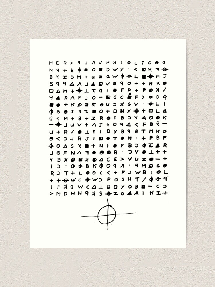 The Zodiac Killer Cypher Art Print By Admiralcasimir Redbubble