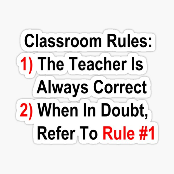 Classroom Rules Sticker