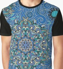 Seamless pattern mandala-style element and floral background Graphic T-Shirt