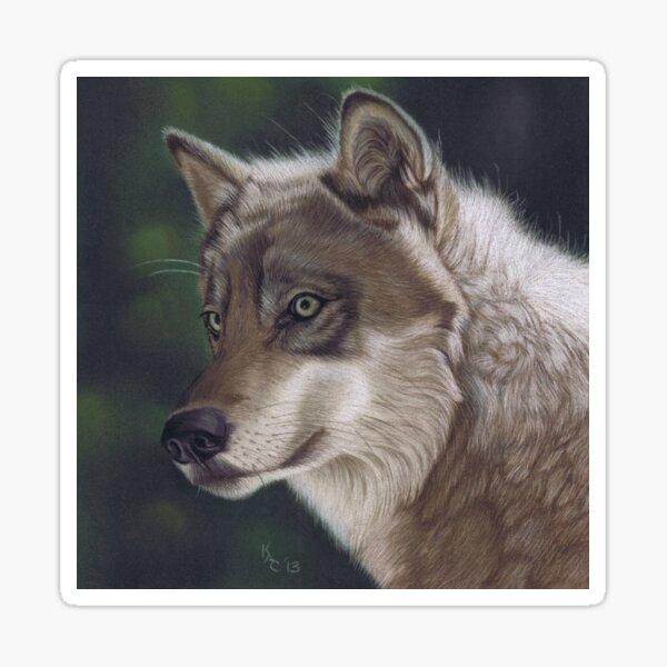 Woodland Wolf Sticker