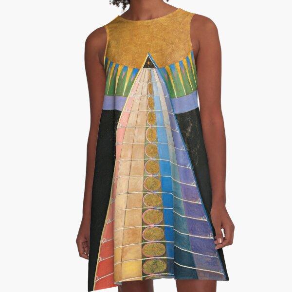 Altarpiece, Group X, No.1 by Hilma af Klint A-Line Dress