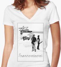 Winchester Motel  Women's Fitted V-Neck T-Shirt