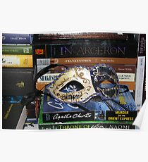 Mask Surrounded by Books Poster