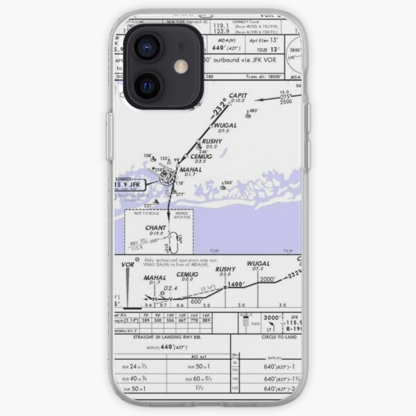 Carte d'aviation KJFK - New York Coque souple iPhone