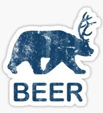 Vintage Beer Bear Deer Sticker