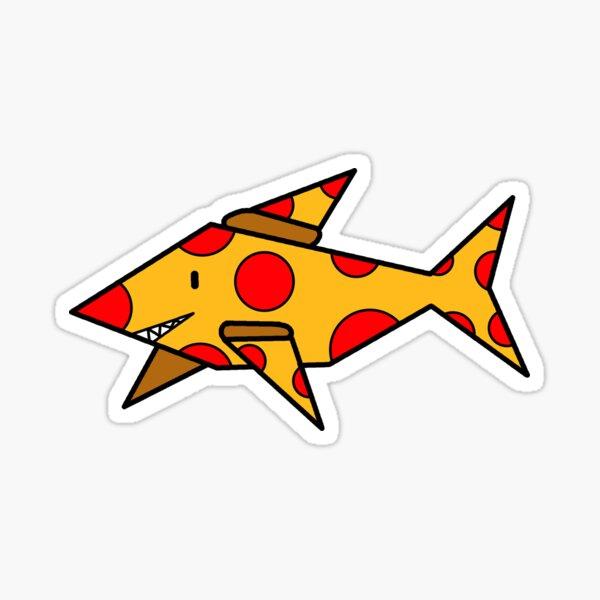 Pizza Shark Sticker