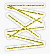 Crime Scene Do Not Cross The Line Sticker