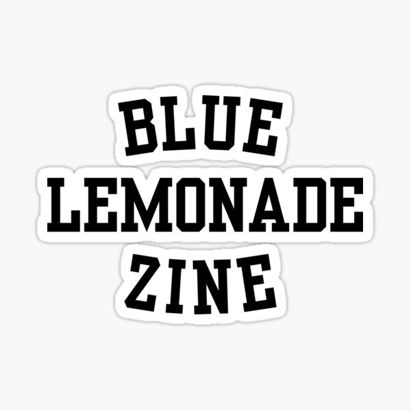 Blue Lemonade Front Sticker