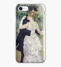 Pierre-Auguste Renoir - Dance In The Cityrenoir. Dancer painting: ballroom, dance, couple, evening dress, costume, ball dance, dancing woman, young , dancers, ball dance,  lovers  iPhone Case/Skin