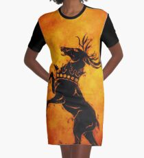 Heraldry Stag Graphic T-Shirt Dress