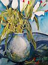 Birthday Lillies by Val Spayne