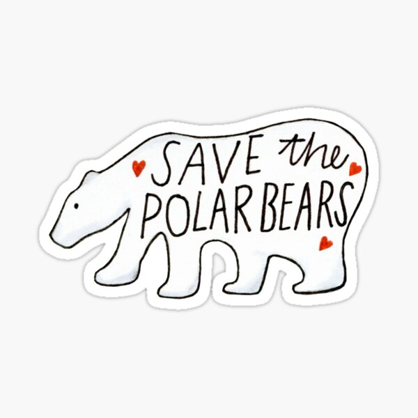 Save the Polar Bears Sticker