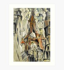 Robert Delaunay - Eiffel Tower. Abstract painting: abstraction, geometric, Eiffel ,  Tower, lines, forms, Circular , music, kaleidoscope, illusion, fantasy future Art Print