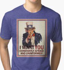 Afraid & Uniformed Tri-blend T-Shirt