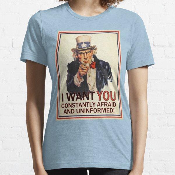 Afraid & Uniformed Essential T-Shirt