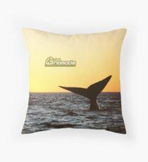 Sunset Whale watching in Peninsula Valdes Throw Pillow