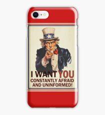 Afraid & Uniformed iPhone Case/Skin