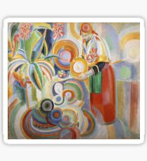Robert Delaunay - Portuguese Woman. Abstract painting: abstraction, geometric,  Woman, composition, lines, forms, Portuguese , music, kaleidoscope, illusion, fantasy future Sticker