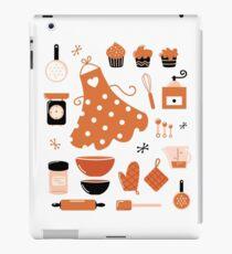 Black and orange retro baking set iPad Case/Skin
