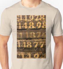Vintage letters background Unisex T-Shirt