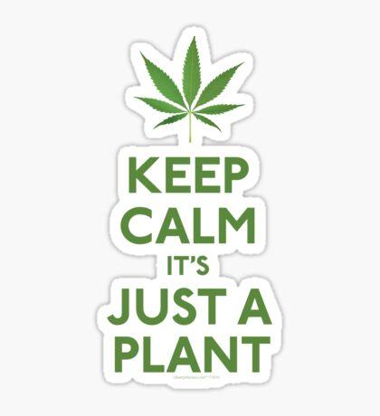 Keep Calm It's Just A Plant Sticker