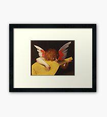 Rosso Fiorentino - Musical Angel 1522. Child portrait: cute baby, kid, children, angel, child, kids, lovely family, boys and girls, boy and girl, mom mum mammy mam, childhood Framed Print