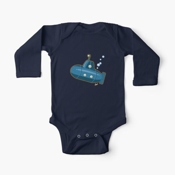 Bubbles the Sub 1 Long Sleeve Baby One-Piece