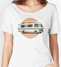 Vintage RV Travel Retro Orange Motorhome Travelling Women's Relaxed Fit T-Shirt