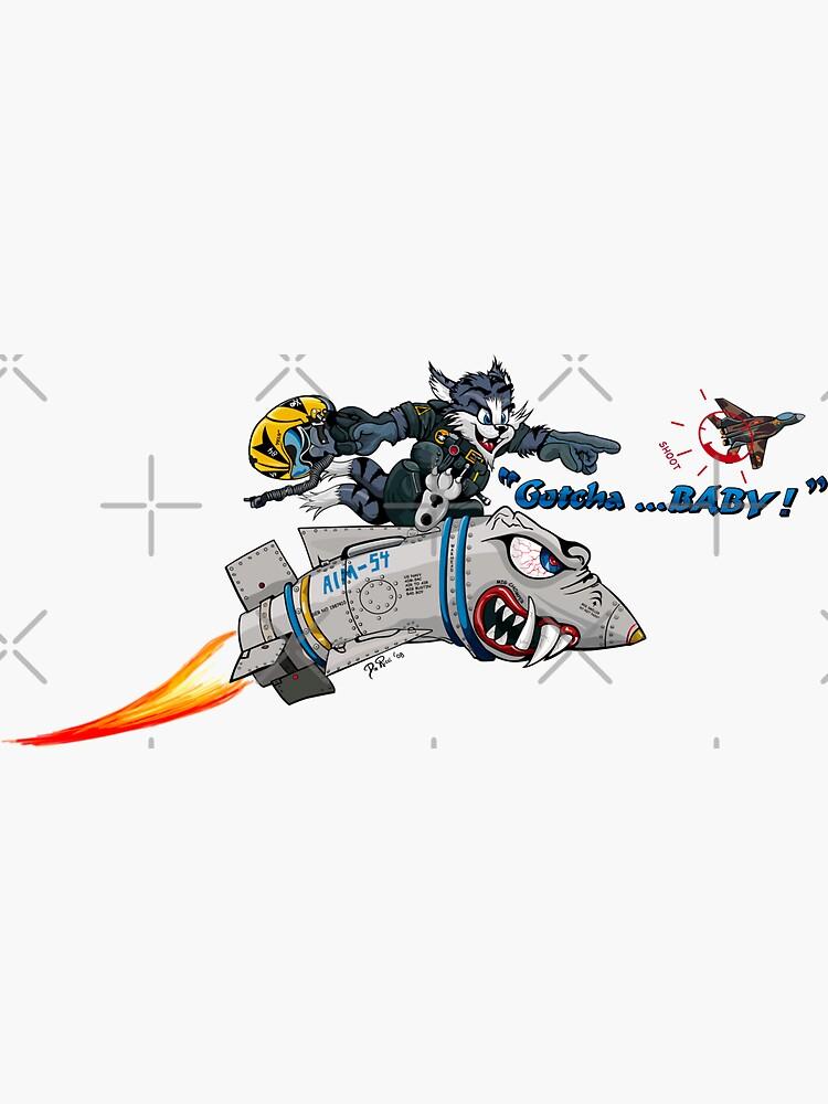 F-14 Tomcat 'Gotcha Baby Illustration by bjcoving